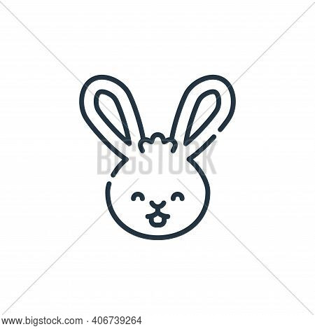rabbit icon isolated on white background from pets collection. rabbit icon thin line outline linear