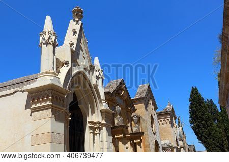 Lecce, Italy - Old Vaults At Cimitero Monumentale (monumental Cemetery).