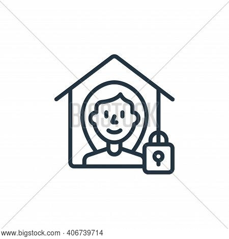 quarantine icon isolated on white background from self isolation collection. quarantine icon thin li