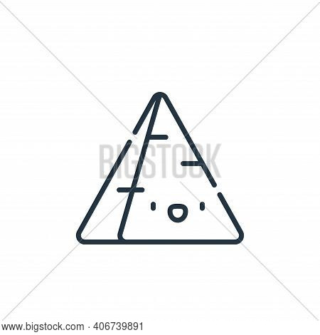 pyramid icon isolated on white background from desert collection. pyramid icon thin line outline lin