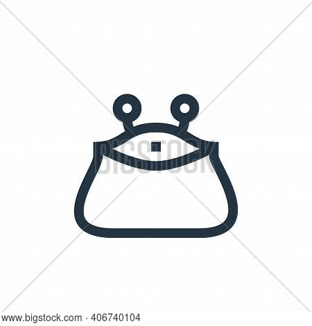 purse icon isolated on white background from payment collection. purse icon thin line outline linear