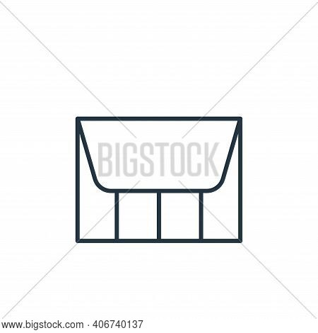 purse icon isolated on white background from accessory collection. purse icon thin line outline line