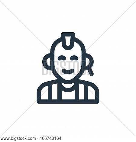 punk icon isolated on white background from music collection. punk icon thin line outline linear pun