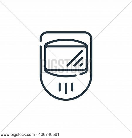 protection mask icon isolated on white background from industrial process collection. protection mas