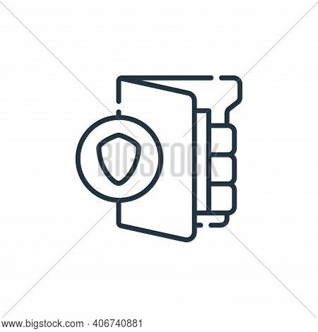 protected icon isolated on white background from database and servers collection. protected icon thi
