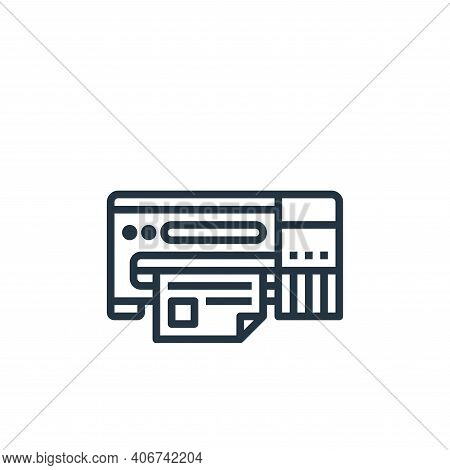 printer icon isolated on white background from stationery collection. printer icon thin line outline