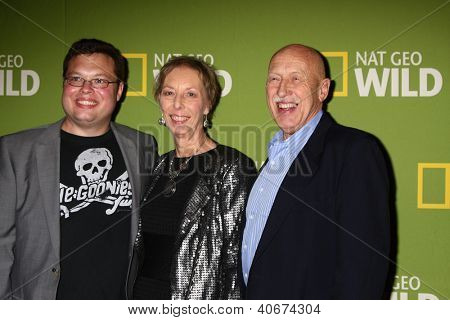 LOS ANGELES - JAN 3:  Charles Pol; Diane Pol; Dr. Jan Pol arrives at the National Geographic Channels'