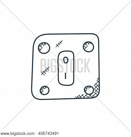 power switch icon isolated on white background from technology collection. power switch icon thin li