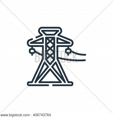 power line icon isolated on white background from industrial process collection. power line icon thi