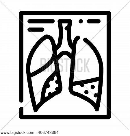 Complications Or Pneumonia Line Icon Vector Illustration