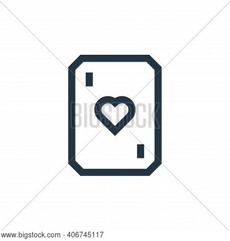 poker icon isolated on white background from video game elements collection. poker icon thin line ou