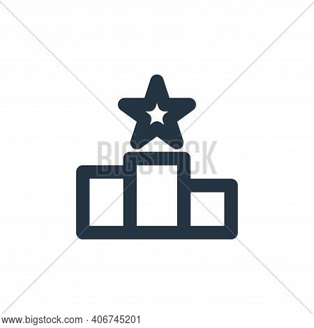 podium icon isolated on white background from sport collection. podium icon thin line outline linear