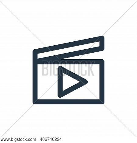 play icon isolated on white background from multimedia collection. play icon thin line outline linea