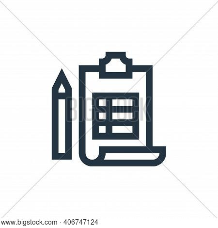 planning icon isolated on white background from job resume collection. planning icon thin line outli