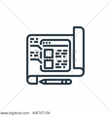 planing icon isolated on white background from user experience collection. planing icon thin line ou