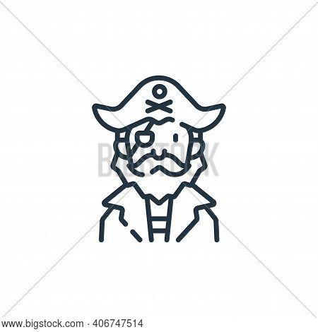 pirate icon isolated on white background from fantastic characters collection. pirate icon thin line