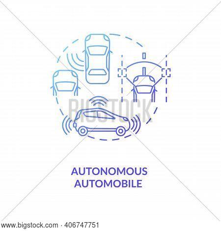 Autonomous Automobile Concept Icon. Cps Application Idea Thin Line Illustration. Self-driving, Drive
