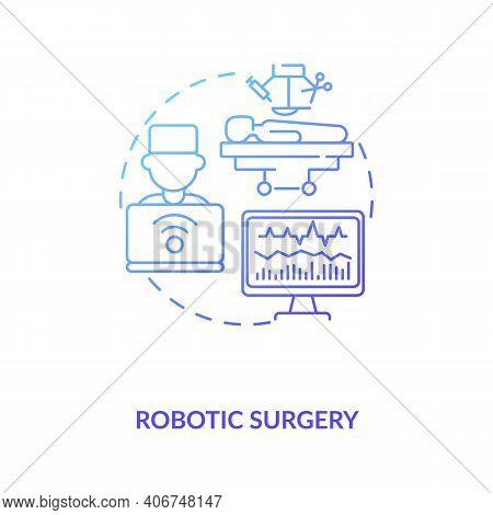 Robotic Surgery Concept Icon. Cps Usage Idea Thin Line Illustration. Minimally Invasive Surgery. Rob