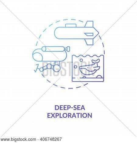 Deep-sea Exploration Concept Icon. Cps Usage Idea Thin Line Illustration. Predicting Tsunamis. Monit