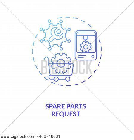 Spare Parts Request Concept Icon. M2m Communication Type Idea Thin Line Illustration. Ordering Repla