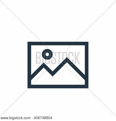 picture icon isolated on white background from text editor collection. picture icon thin line outlin