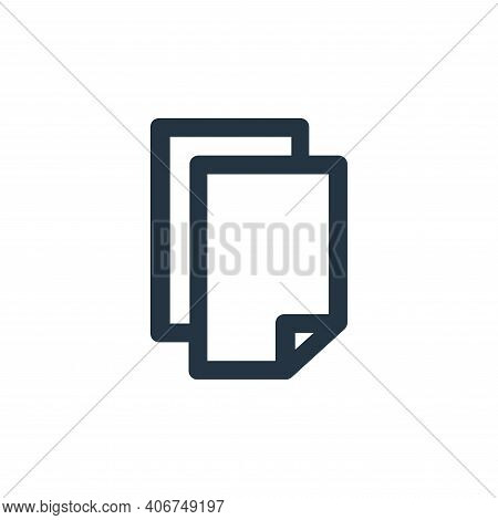 photocopy icon isolated on white background from user interface collection. photocopy icon thin line