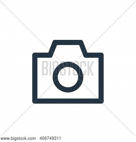 photo camera icon isolated on white background from user interface collection. photo camera icon thi