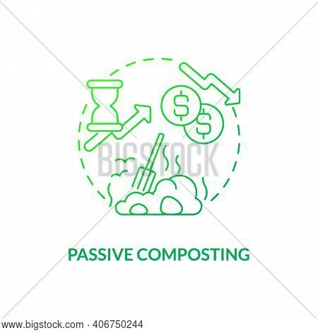 Passive Composting Concept Icon. Composting Method Idea Thin Line Illustration. Piling Up Organic Ma