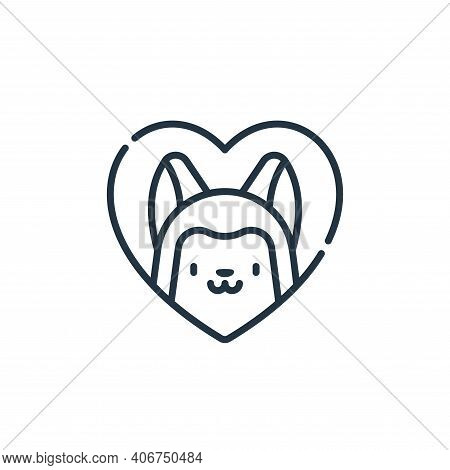 pets icon isolated on white background from animal welfare collection. pets icon thin line outline l