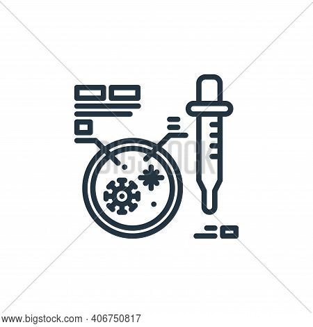 petri dish icon isolated on white background from virus collection. petri dish icon thin line outlin