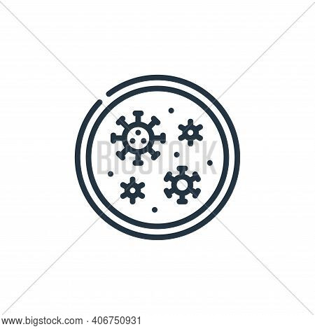 petri dish icon isolated on white background from coronavirus collection. petri dish icon thin line