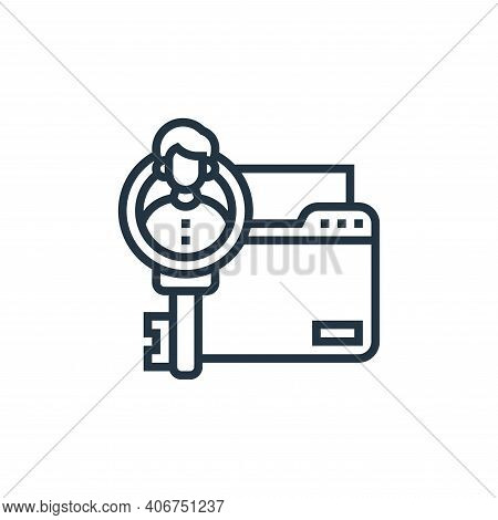 personal information icon isolated on white background from confidential information collection. per