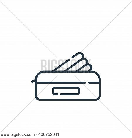 pencil case icon isolated on white background from academy collection. pencil case icon thin line ou