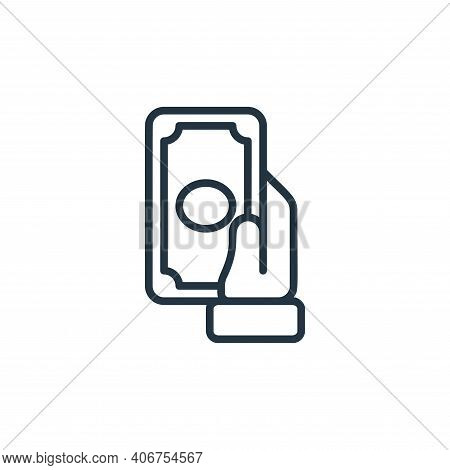 payment icon isolated on white background from money collection. payment icon thin line outline line