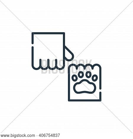 paw icon isolated on white background from animal welfare collection. paw icon thin line outline lin