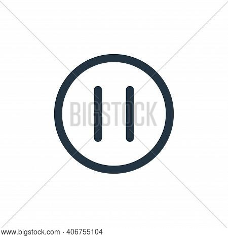 pause icon isolated on white background from multimedia collection. pause icon thin line outline lin