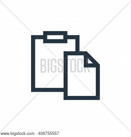 paste icon isolated on white background from text editor collection. paste icon thin line outline li