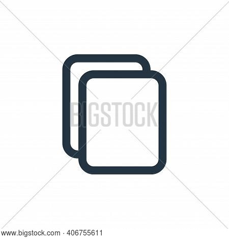 paste icon isolated on white background from interface collection. paste icon thin line outline line