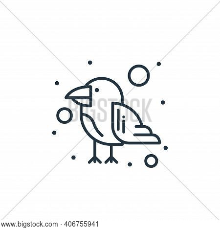 parrot icon isolated on white background from brazilian carnival collection. parrot icon thin line o
