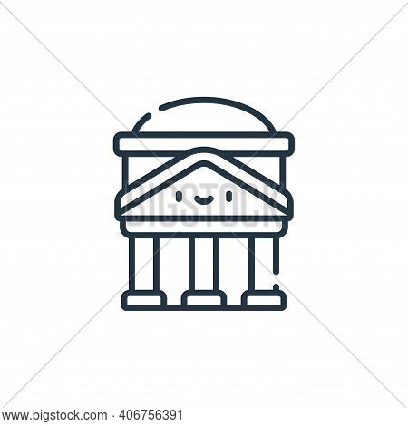 Pantheon icon isolated on white background from italy collection. Pantheon icon thin line outline li