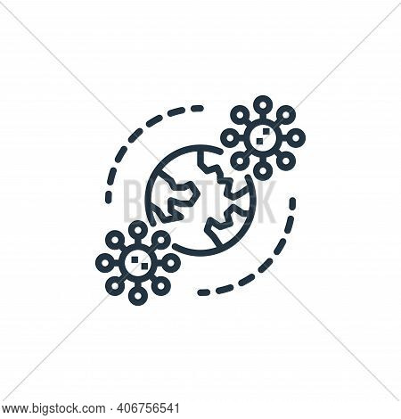 pandemic icon isolated on white background from coronavirus collection. pandemic icon thin line outl