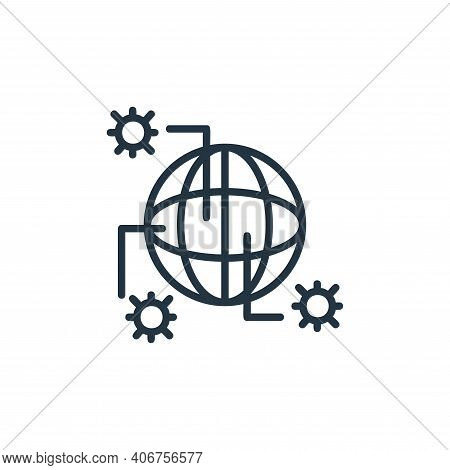 pandemic icon isolated on white background from covid collection. pandemic icon thin line outline li