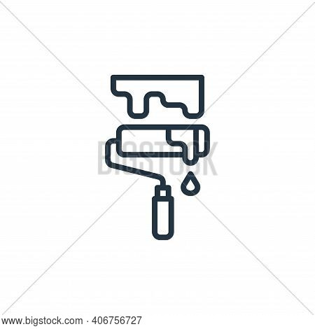 paint roller icon isolated on white background from graphic design collection. paint roller icon thi