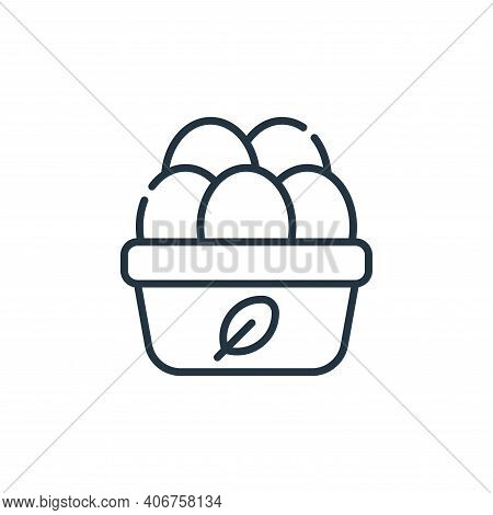 organic eggs icon isolated on white background from animal welfare collection. organic eggs icon thi