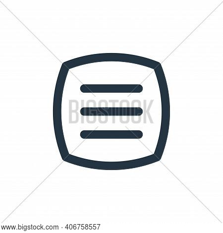 open menu icon isolated on white background from basic ui collection. open menu icon thin line outli