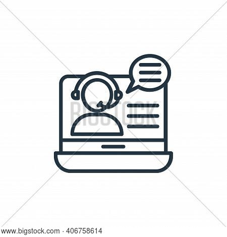 online support icon isolated on white background from shopping line icons collection. online support
