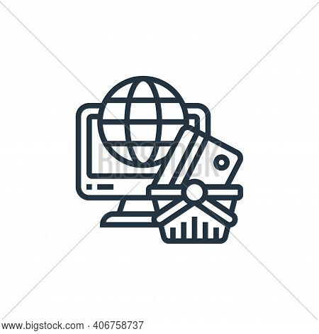 online shopping icon isolated on white background from payment element collection. online shopping i