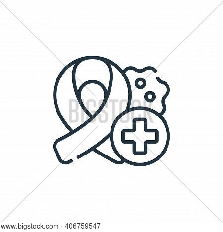 oncology icon isolated on white background from medical services collection. oncology icon thin line