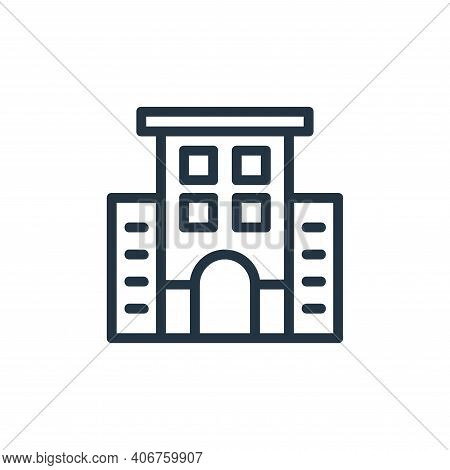 office building icon isolated on white background from banking and finance flat icons collection. of