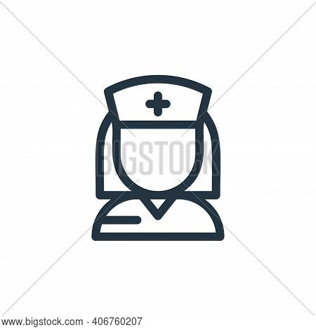 nurse icon isolated on white background from medical tools collection. nurse icon thin line outline